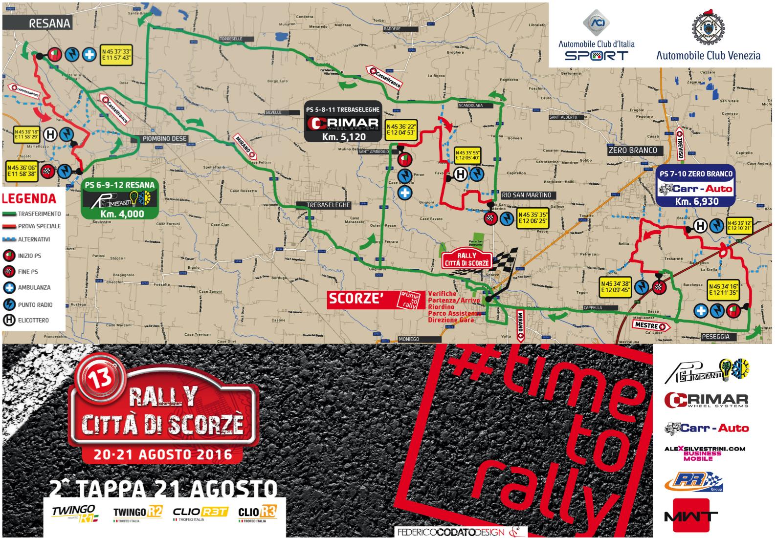 SECONDA TAPPA 13° Rally Città di Scorzè